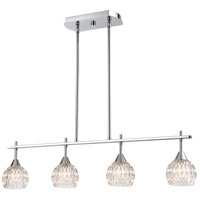 ELK 10825/4 Kersey 4 Light 34 inch Polished Chrome Island Light Ceiling Light