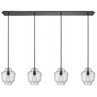 ELK 10905/4LP Barrel 4 Light 46 inch Oil Rubbed Bronze Mini Pendant Ceiling Light in Linear, Linear