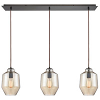 ELK 10910/3LP Barrel 3 Light 36 inch Oil Rubbed Bronze Mini Pendant Ceiling Light in Linear, Linear