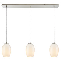 Villiska 3 Light 36 inch Satin Nickel Linear Pendant Ceiling Light