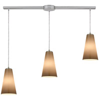 ELK 10940/3L Connor 3 Light 38 inch Satin Nickel Mini Pendant Ceiling Light in Linear with Recessed Adapter, Linear