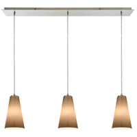 Connor 3 Light 36 inch Satin Nickel Linear Pendant Ceiling Light