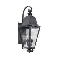 Brookridge 2 Light 23 inch Charcoal Outdoor Sconce