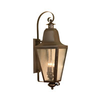 Brookridge 3 Light 31 inch Aged Copper Outdoor Sconce