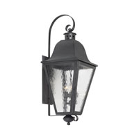 Brookridge 4 Light 36 inch Charcoal Outdoor Sconce