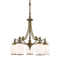 ELK Lighting Williamsport 5 Light Chandelier in Vintage Brass Patina 11048/5 photo thumbnail