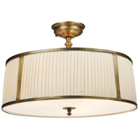 Williamsport 4 Light 20 inch Vintage Brass Patina Semi-Flush Mount Ceiling Light in Standard