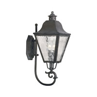 ELK Lighting High Falls 2 Light Outdoor Sconce in Charcoal 1106-C