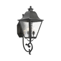 High Falls 3 Light 26 inch Charcoal Outdoor Sconce