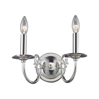 ELK Lighting Sophia 2 Light Sconce in Polished Nickel 11075/2