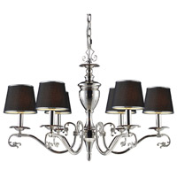 ELK Lighting Sophia 6 Light Chandelier in Polished Nickel 11076/6 alternative photo thumbnail