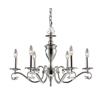 ELK Lighting Sophia 6 Light Chandelier in Polished Nickel 11076/6 photo thumbnail
