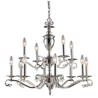 ELK Lighting Sophia 12 Light Chandelier in Polished Nickel 11077/8+4 photo thumbnail