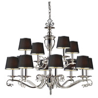 ELK Lighting Sophia 12 Light Chandelier in Polished Nickel 11077/8+4 alternative photo thumbnail