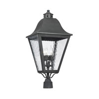 ELK Lighting High Falls 4 Light Outdoor Post Light in Charcoal 1109-C