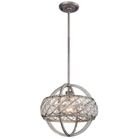 ELK 11093/1 Bradington 1 Light 13 inch Weathered Zinc Pendant Ceiling Light