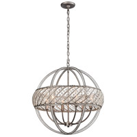 Bradington 6 Light 23 inch Weathered Zinc Pendant Ceiling Light