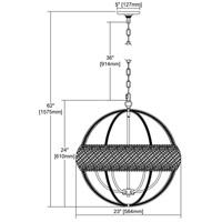 ELK 11094/6 Bradington 6 Light 23 inch Weathered Zinc Pendant Ceiling Light alternative photo thumbnail