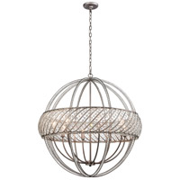 Bradington 8 Light 32 inch Weathered Zinc Pendant Ceiling Light