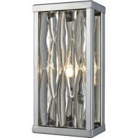 ELK 11100/1 Riverflow 1 Light 5 inch Polished Chrome Vanity Light Wall Light