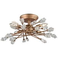 Serendipity 4 Light 22 inch Matte Gold Semi Flush Mount Ceiling Light