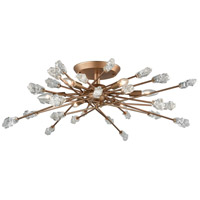 Serendipity 6 Light 32 inch Matte Gold Semi Flush Mount Ceiling Light