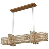Lexicon 5 Light 36 inch Matte Gold Chandelier Ceiling Light