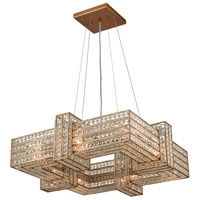 Lexicon 8 Light 25 inch Matte Gold Chandelier Ceiling Light