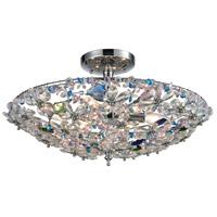 ELK 11130/6 Crystallus 6 Light 20 inch Polished Chrome Semi Flush Mount Ceiling Light
