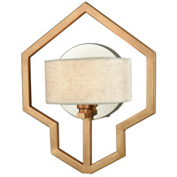 Warrenton 1 Light 10 inch Matte Gold with Polished Nickel Wall Sconce Wall Light