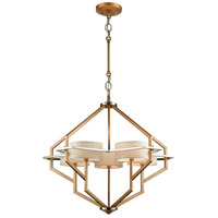 Warrenton 5 Light 27 inch Matte Gold with Polished Nickel Chandelier Ceiling Light