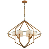 Warrenton 6 Light 33 inch Matte Gold with Polished Nickel Chandelier Ceiling Light
