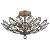 La Crescita 6 Light 21 inch Weathered Zinc Semi Flush Mount Ceiling Light