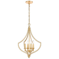 ELK 11175/4 La Rochelle 4 Light 17 inch Parisian Gold Leaf Pendant Ceiling Light