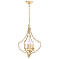ELK 11175/4 La Rochelle 4 Light 17 inch Parisian Gold Leaf Pendant Ceiling Light