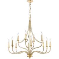 ELK 11178/12 La Rochelle 12 Light 38 inch Parisian Gold Leaf Chandelier Ceiling Light