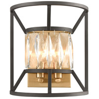 Starlight 2 Light 9 inch Charcoal with Satin Brass Wall Sconce Wall Light