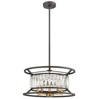 ELK 11185/5 Starlight 5 Light 19 inch Charcoal with Satin Brass Pendant Ceiling Light alternative photo thumbnail