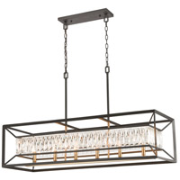 Starlight 6 Light 42 inch Charcoal with Satin Brass Island Light Ceiling Light