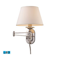 ELK Lighting Swingarm 1 Light Swingarm Sconce in Polished Nickel 11209/1-LED