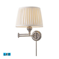 ELK Lighting Swingarm 1 Light Swingarm Sconce in Antique Nickel 11213/1-LED