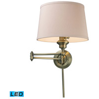 Westbrook 25 inch 9.5 watt Antique Brass Swingarm Sconce Wall Light in LED