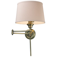 ELK 11220/1 Westbrook 25 inch 150 watt Antique Brass Swingarm Wall Light in Standard