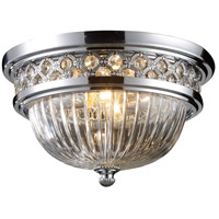 ELK 11225/2 Signature 2 Light 13 inch Polished Chrome Flush Mount Ceiling Light
