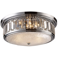 ELK 11227/3 Signature 3 Light 16 inch Polished Chrome Flush Mount Ceiling Light