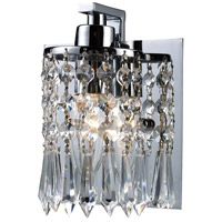 Optix 1 Light 5 inch Polished Chrome Vanity Wall Light