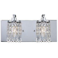 Optix 2 Light 14 inch Polished Chrome Vanity Wall Light