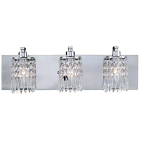 Optix 3 Light 21 inch Polished Chrome Vanity Wall Light
