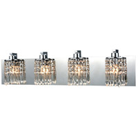 Optix 4 Light 28 inch Polished Chrome Vanity Wall Light in Standard