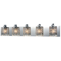 Optix 5 Light 35 inch Polished Chrome Vanity Wall Light in Standard